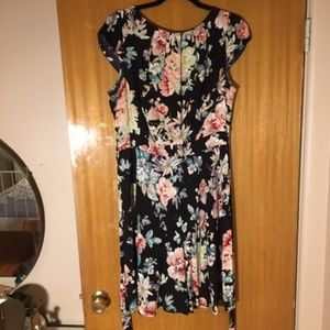 Floral Formal Dress with Lace detailing